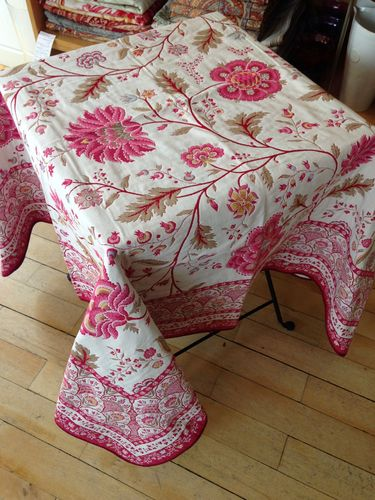 Jacquard Plaid Montespan rose 150x150cm